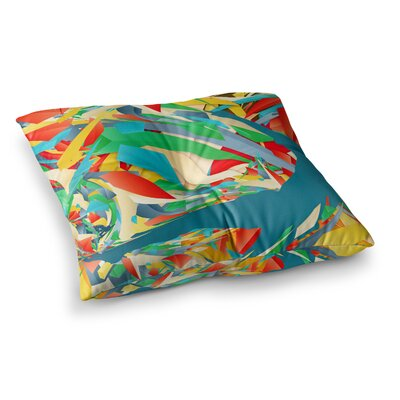 Soccer Slide Crazy Rainbow by Danny Ivan Floor Pillow Size: 26 x 26