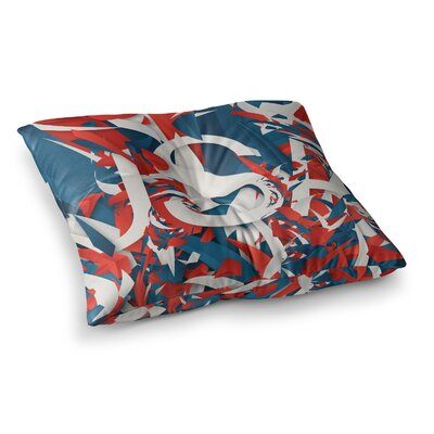 USA World Cup by Danny Ivan Floor Pillow Size: 26 x 26
