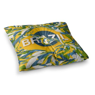 Brazil World Cup by Danny Ivan Floor Pillow Size: 23 x 23