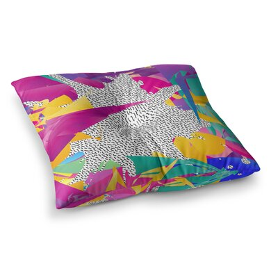 80s Abstract by Danny Ivan Floor Pillow Size: 26 x 26