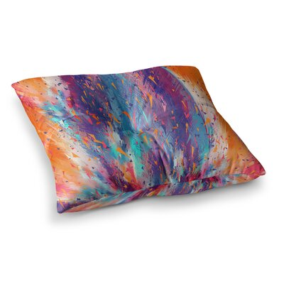 Colorful Cool Fire by Danny Ivan Floor Pillow Size: 23 x 23