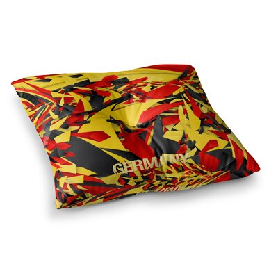 "Germany World Cup by Danny Ivan Floor Pillow Size: 23"" x 23"" ESTQ9152 40910478"