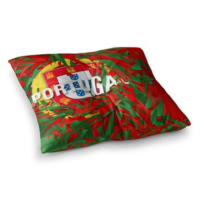Portugal World Cup by Danny Ivan Floor Pillow Size: 23 x 23
