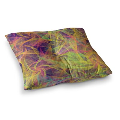 Blend Everywhere Abstract by Danny Ivan Floor Pillow Size: 26 x 26