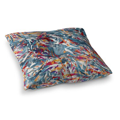 Excited Colours Abstract by Danny Ivan Floor Pillow Size: 26 x 26