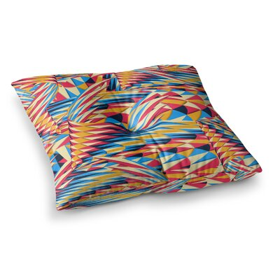 Painting Life Abstract by Danny Ivan Floor Pillow Size: 26 x 26