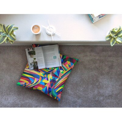 The Optimist Geometric by Danny Ivan Floor Pillow Size: 23 x 23