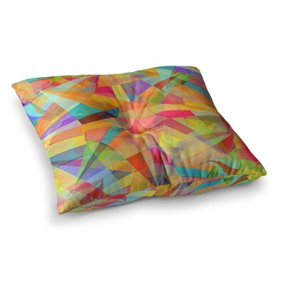 Star Geometric by Danny Ivan Floor Pillow Size: 26