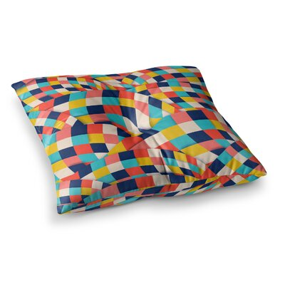 Curved Squares by Danny Ivan Floor Pillow Size: 23 x 23