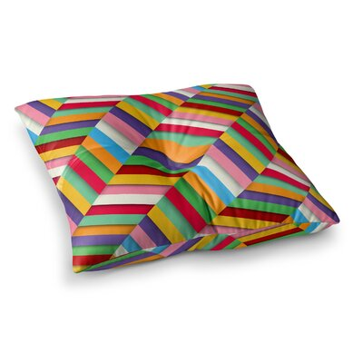 Excuse Me Abstract by Danny Ivan Floor Pillow Size: 23 x 23
