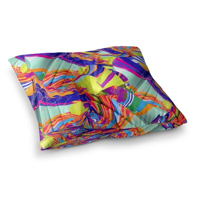 To Swim Abstract by Danny Ivan Floor Pillow Size: 26 x 26