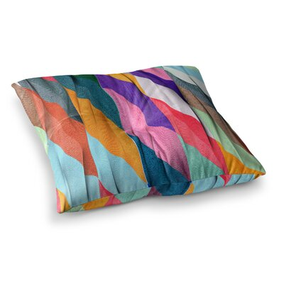 Timeless Texture Stripes by Danny Ivan Floor Pillow Size: 23 x 23