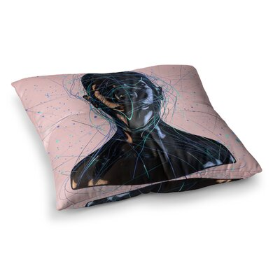Calm Woman by Danny Ivan Floor Pillow Size: 26 x 26