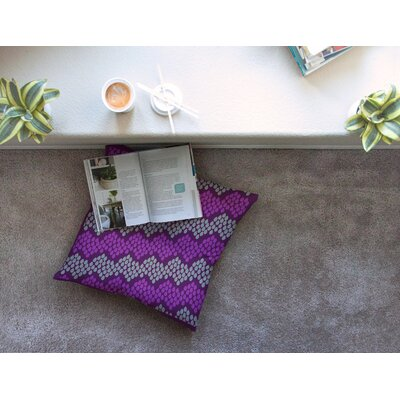 Pattern #2 Chevron by Deepti Munshaw Floor Pillow Size: 23 x 23