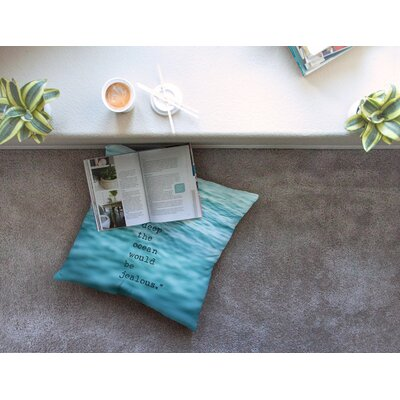 Crave Love Ocean by Debbra Obertanec Floor Pillow Size: 26 x 26