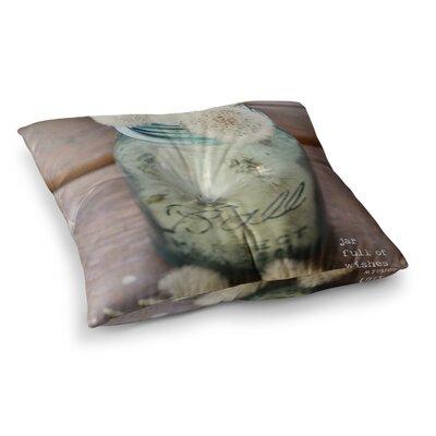 Jar of Wishes Fuzzy by Debbra Obertanec Floor Pillow Size: 23 x 23
