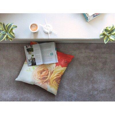 Springtime Ranunculus Floral by Debbra Obertanec Floor Pillow Size: 23 x 23