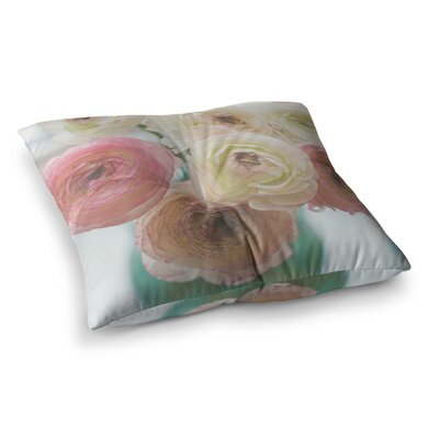 Pastel Ranunculus by Debbra Obertanec Floor Pillow Size: 23 x 23