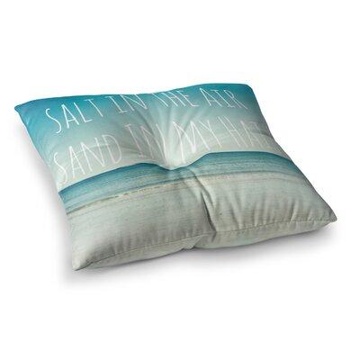 Salt in the Air Ocean Typography by Debbra Obertanec Floor Pillow Size: 26 x 26