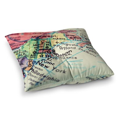 Boston on the Time Pastel by Debbra Obertanec Floor Pillow Size: 23 x 23