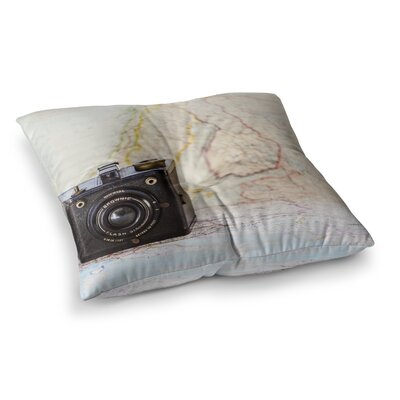 Travel Time by Debbra Obertanec Floor Pillow Size: 23 x 23