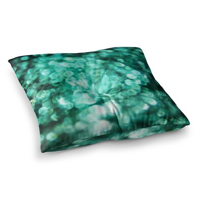 Teal Mayhem by Debbra Obertanec Floor Pillow Size: 23 x 23