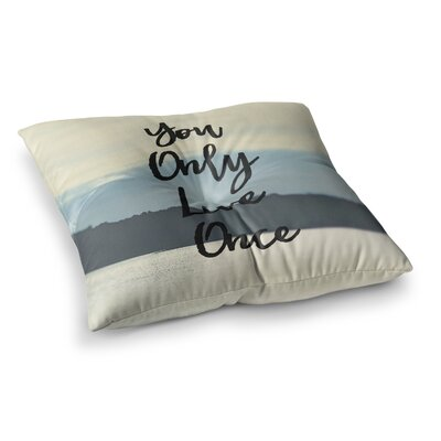 Yolo Typograghy Pastel by Debbra Obertanec Floor Pillow Size: 23 x 23