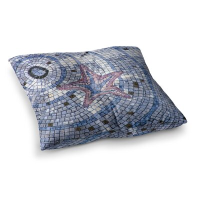 Mosaic Starfish Nautical by Debbra Obertanec Floor Pillow Size: 26 x 26