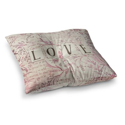 Simply Love Typography by Debbra Obertanec Floor Pillow Size: 23 x 23