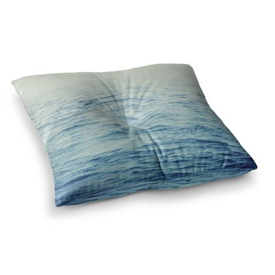 Foggy Morning Ocean Coastal by Debbra Obertanec Floor Pillow Size: 26 x 26