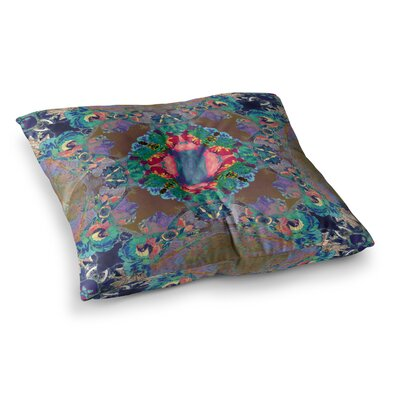 Flowery Floral Kaleidoscope by Danii Pollehn Floor Pillow Size: 26 x 26