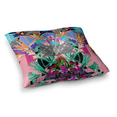 Japanese Rorschach by Danii Pollehn Floor Pillow Size: 26 x 26