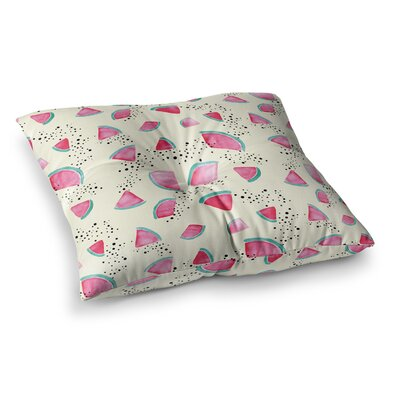 Watermelon Food by Danii Pollehn Floor Pillow Size: 23 x 23