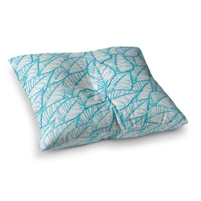 Leaves Illustration by Danii Pollehn Floor Pillow Size: 26 x 26