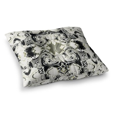 The Palace Walls by Dawid Roc Floor Pillow Size: 23 x 23, Color: White