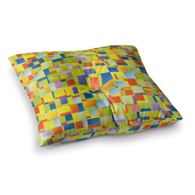 Color Blocking Geometric by Dawid Roc Floor Pillow Size: 23 x 23