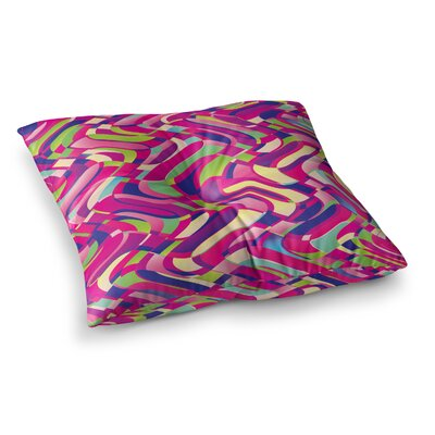 Colorful Movement Abstract by Dawid Roc Floor Pillow Size: 26 x 26