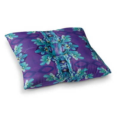 Orchids Floral by Dawid Roc Floor Pillow Size: 26 x 26