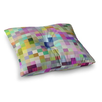 Colorful Pixels by Dawid Roc Floor Pillow Size: 23 x 23