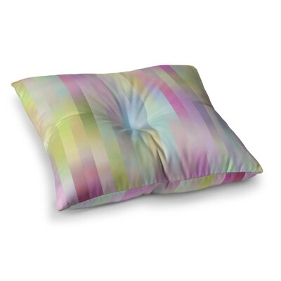 Sweet Pastel Lines 1 by Dawid Roc Floor Pillow Size: 23 x 23