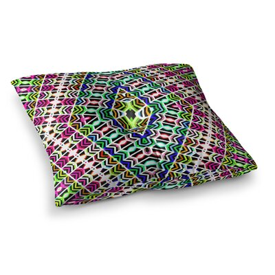 Colorful Tribal Pattern by Dawid Roc Floor Pillow Size: 26 x 26