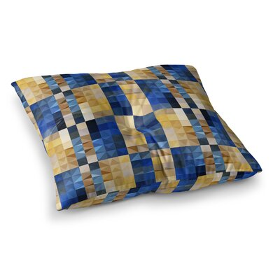 New Stripes Mosaic by Dawid Roc Floor Pillow Size: 26 x 26