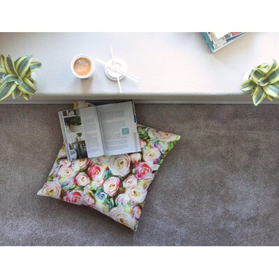 Pastel Rose Romantic Gifts Photography by Dawid Roc Floor Pillow Size: 26 x 26