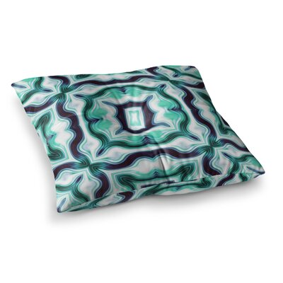Vintage Flower by Dawid Roc Floor Pillow Size: 23 x 23, Color: Green