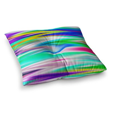 Lively Atmosphere Abstract by Dawid Roc Floor Pillow Size: 23 x 23