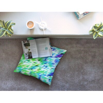 Colorful Summer Geometric Abstract by Dawid Roc Floor Pillow Size: 23 x 23