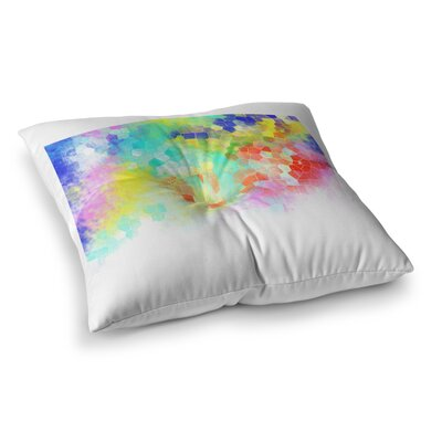 Structure Abstract by Dan Sekanwagi Floor Pillow Size: 23 x 23