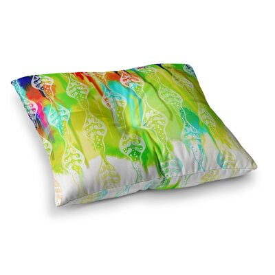 Seeds of Unity by Dan Sekanwagi Floor Pillow Size: 26 x 26, Color: Multi