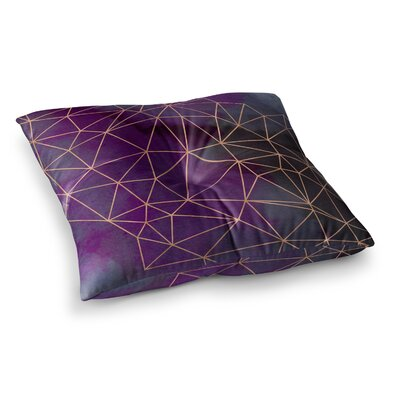 Watercolor Storm by Cafelab Floor Pillow Size: 26 x 26