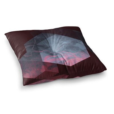 Dramatic Geometry by Cafelab Floor Pillow Size: 23 x 23
